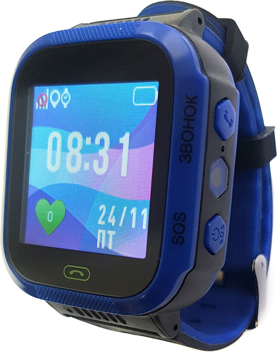 Смарт-браслет для детей Jet Kid Smart, темно-синий multifunctional anti lost bluetooth smart key wallet