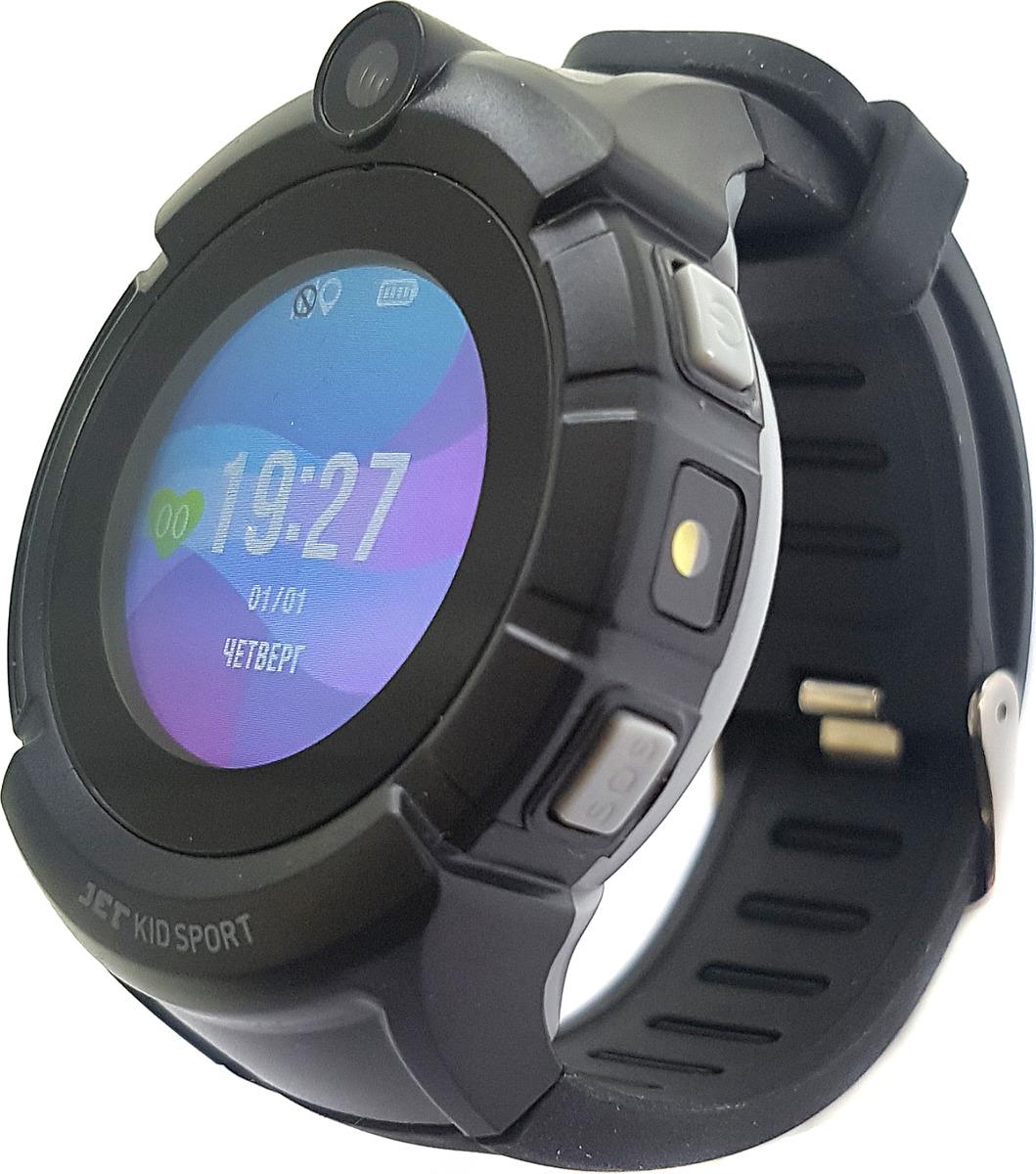 Смарт-браслет для детей Jet Kid Sport, черный e6 cmos 2 0mp gps locator anti lost alarm device for the aged kid pet black
