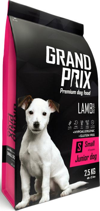Сухой корм для щенков собак мелких и миниатюрных пород Grand Prix Small Junior, ягненок, 800 г