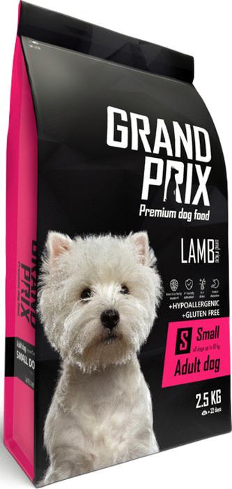 Сухой корм для взрослых собак мелких и миниатюрных пород Grand Prix Small Adult, ягненок, 2,5 кг