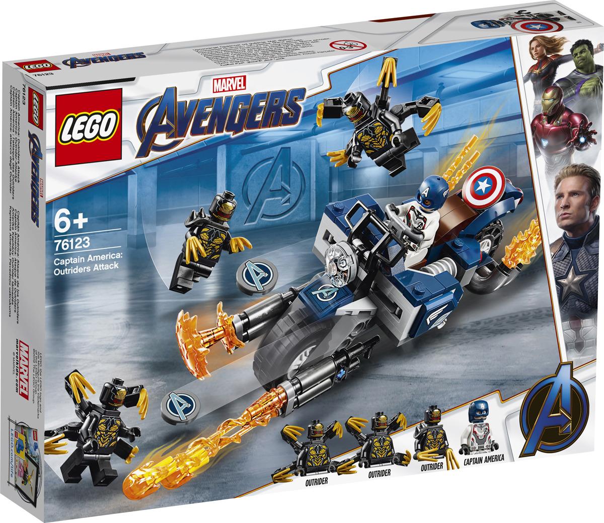 LEGO Super Heroes Marvel Avengers 76123 Капитан Америка: Атака Аутрайдеров Конструктор