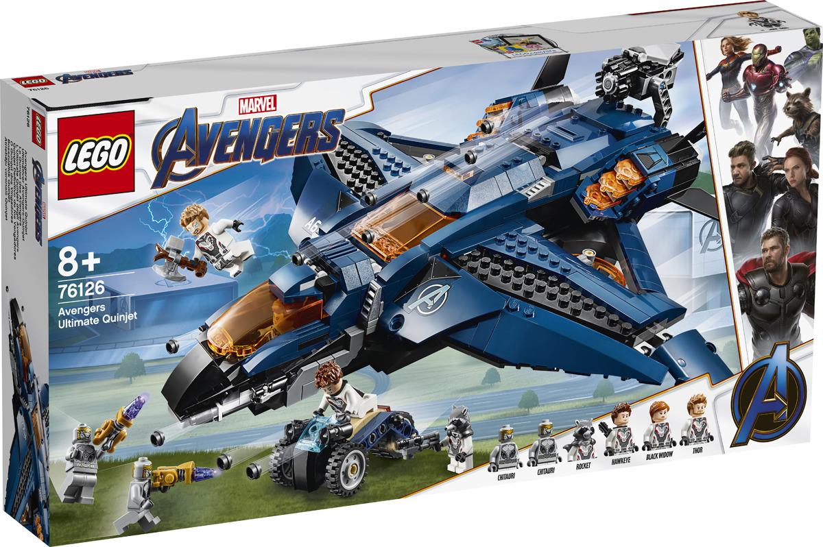 LEGO Super Heroes Marvel Avengers 76126 Модернизированный квинджет Мстителей Конструктор цены онлайн