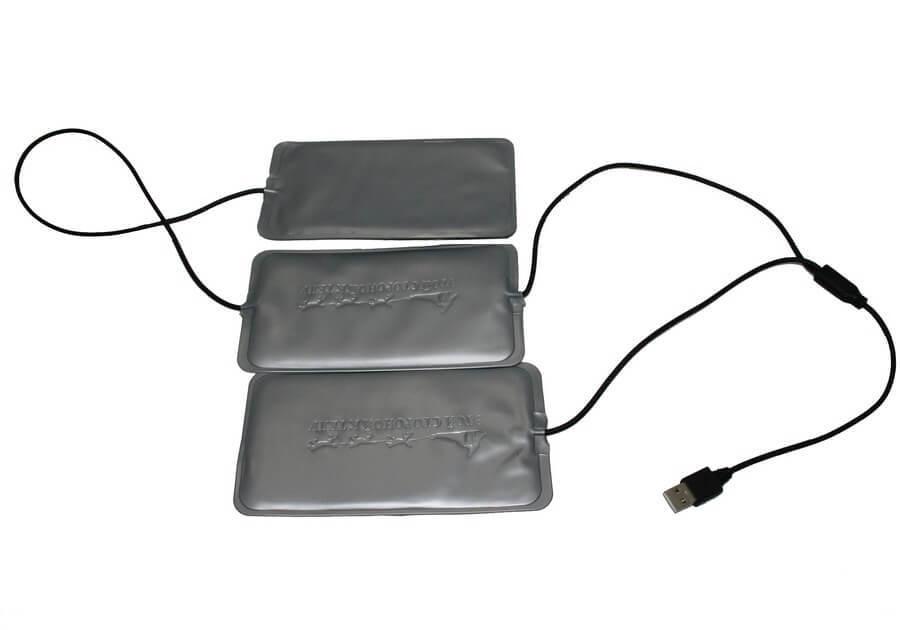 Портативная электрогрелка RedLaika Греющий комплект для любой одежды USB, серый