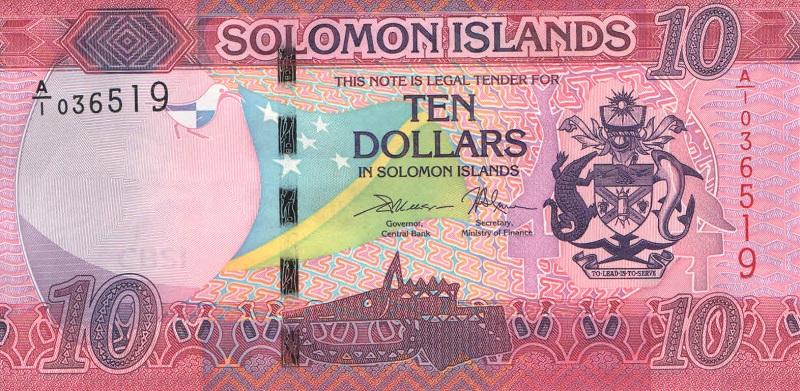Банкнотаноминалом 10 долларов. Соломоновы острова. 2017 годсоломоны10-2017Номера и серии могут отличаться от представленных на скане!