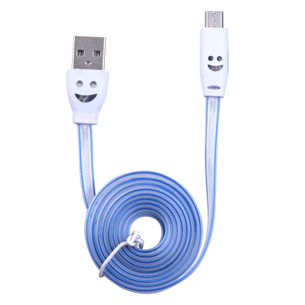 Кабель USB-кабель со светодиодной подсветкой, белый