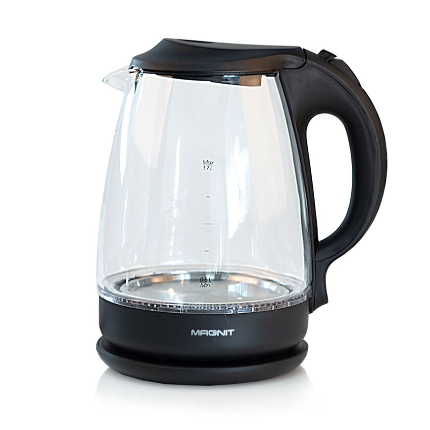 Чайник электрический Magnit 1.7 л, 2200 Вт, подсветка корпуса