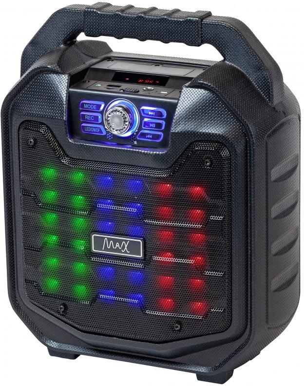 Портативная акустическая система MAX MR-380, черный недорго, оригинальная цена