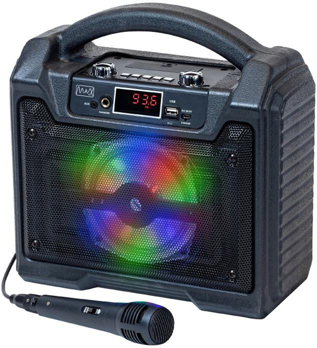 Портативная акустическая система MAX MR-372, черный недорго, оригинальная цена