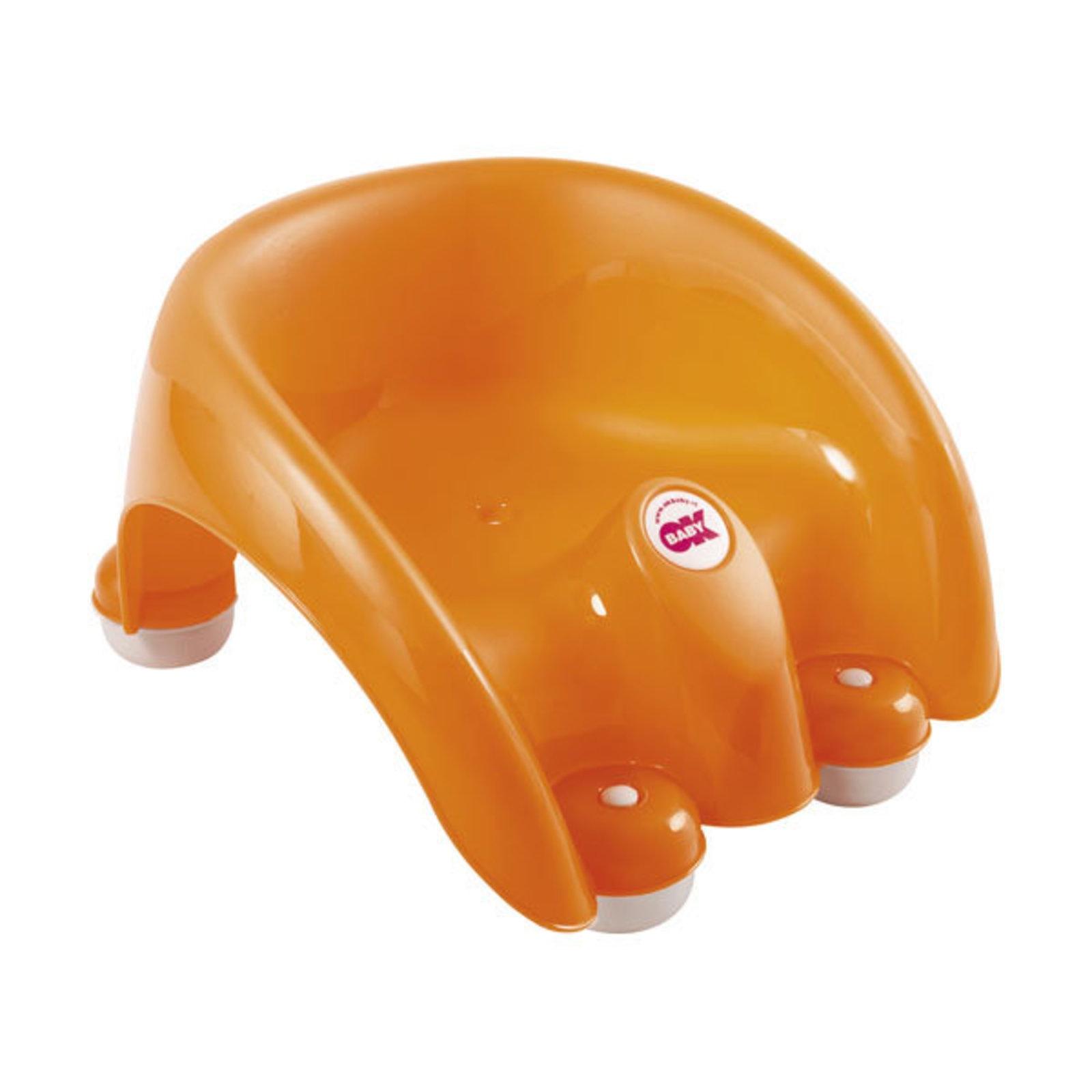 Стульчик для купания OK BABY POUF оранжевый cotoons стульчик для ванной с 6 мес
