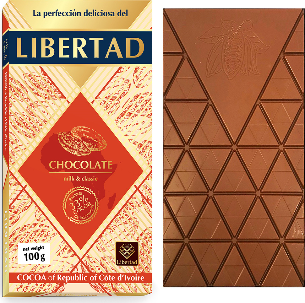 Шоколад Libertad Молочный, 100 г сhokocat кот менеджер молочный шоколад 50 г