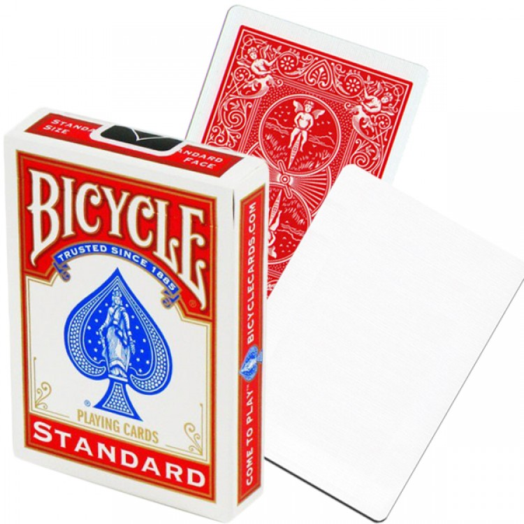 Игральные карты United States Playing Card Company Bicycle Blank Face Red Back1019710
