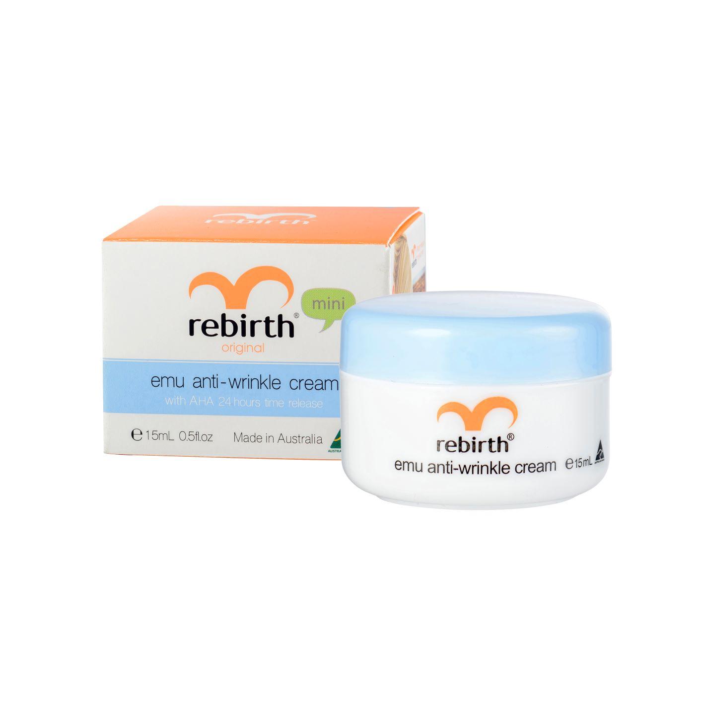 RebirthКрем от морщин с маслом эму и фруктовыми кислотами Emu Anti-wrinkle Cream  15ml Rebirth