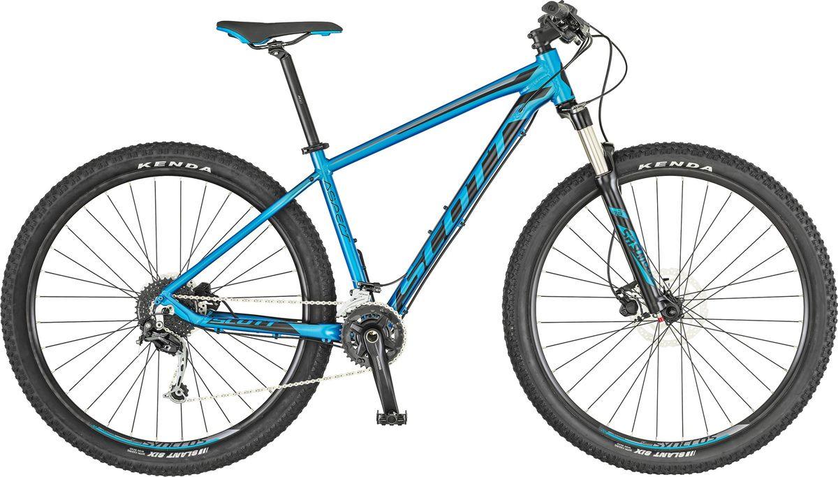 Велосипед горный Scott Aspect 930, 269801, синий, черный, размер рамы L велосипед scott scale 930 2018