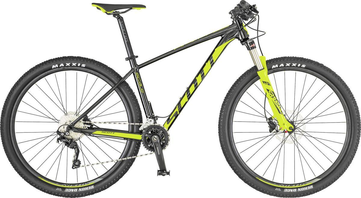 Велосипед горный Scott Scale 990, 269743, черный, желтый, размер рамы XL