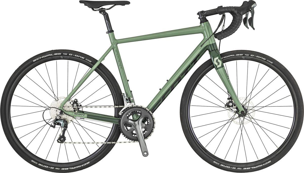 Велосипед шоссейный Scott Speedster Gravel 30, 269907, зеленый, размер рамы M/54