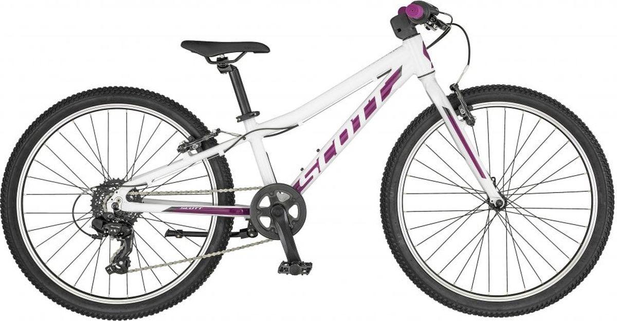 Велосипед детский Scott Contessa 24, 270056, белый, фиолетовый, размер колеса 24