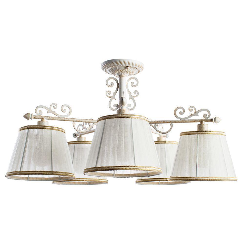 купить Потолочный светильник Arte Lamp A9513PL-5WG, белый по цене 12800 рублей