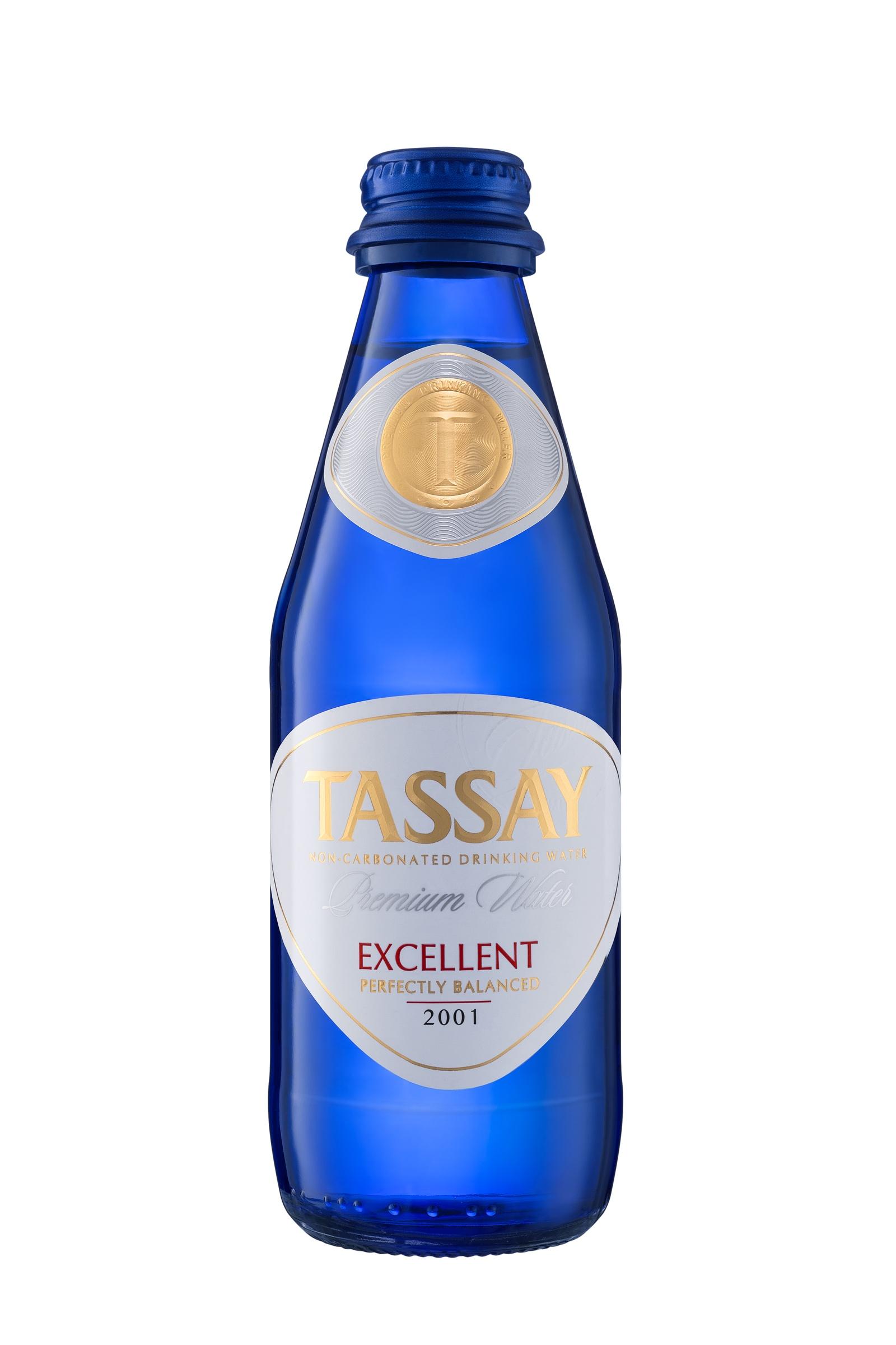 Вода TASSAY природная питьевая Еxcellent, 0.25 л, стекло