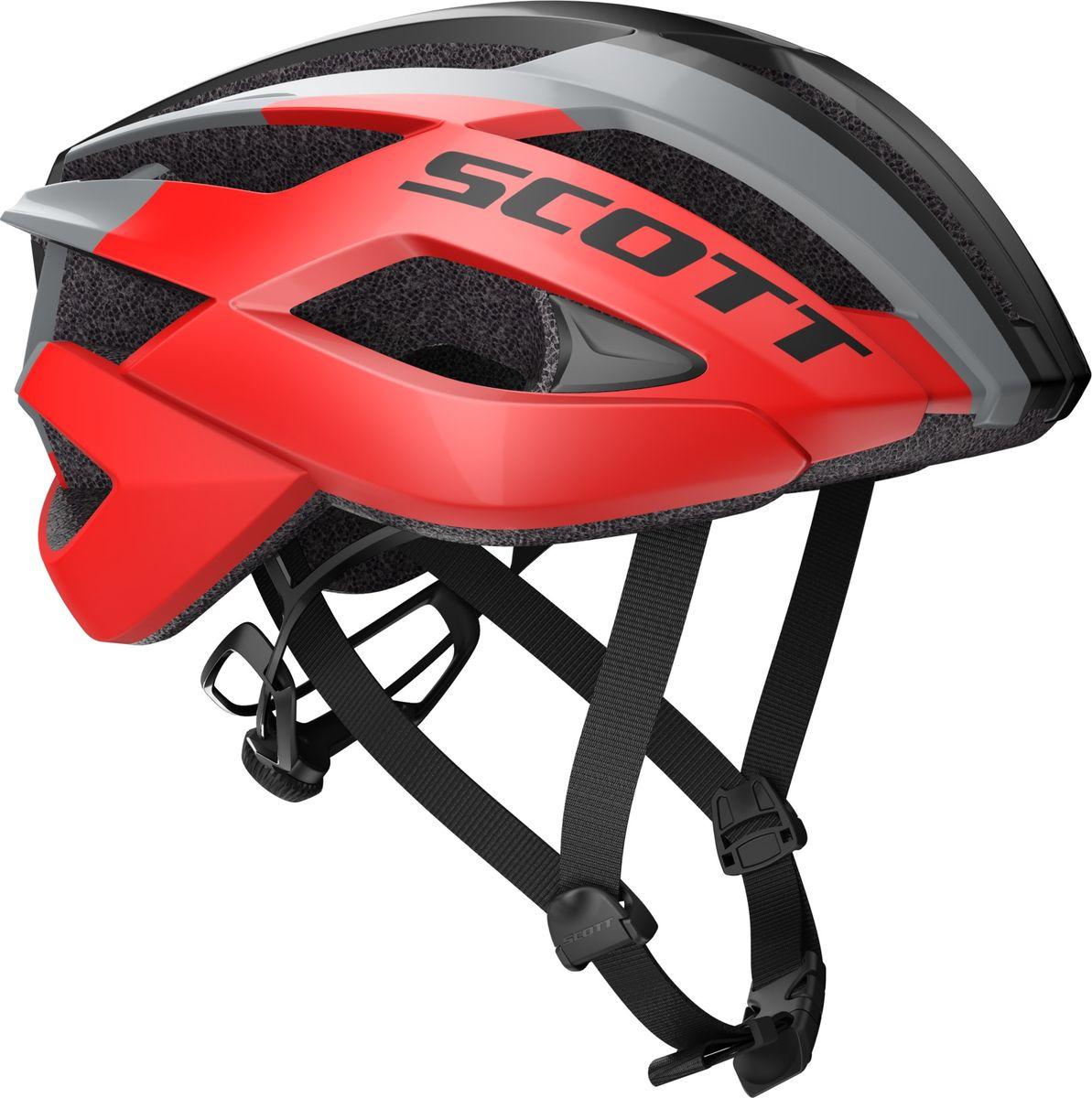цены на Шлем защитный Scott Arx, 241247-6150, красный, размер M (55/59)  в интернет-магазинах