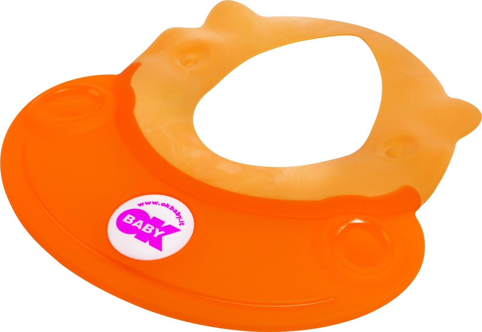 Козырек для мытья головы OK BABY HIPPO оранжевый