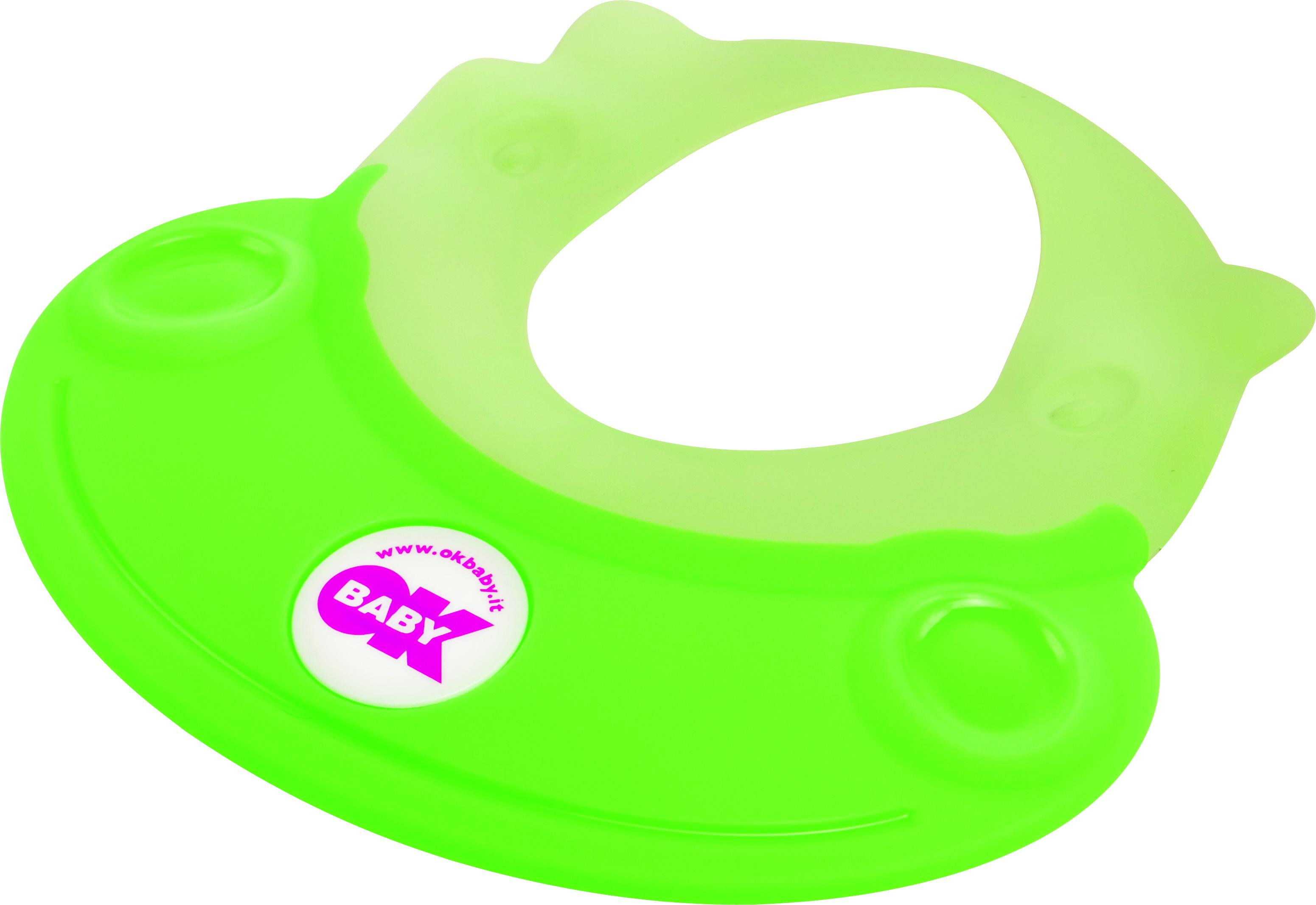 Козырек для мытья головы OK BABY HIPPO зеленый