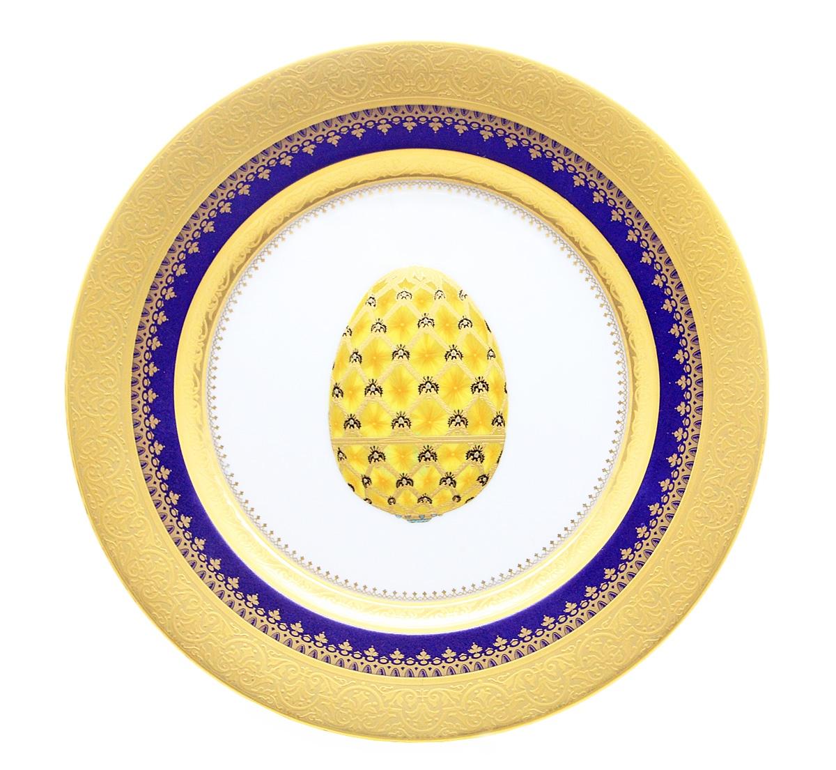 Тарелка Коронация. Фарфор, золочение. Ручная роспись. Faberge, Франция, конец ХХ века faberge