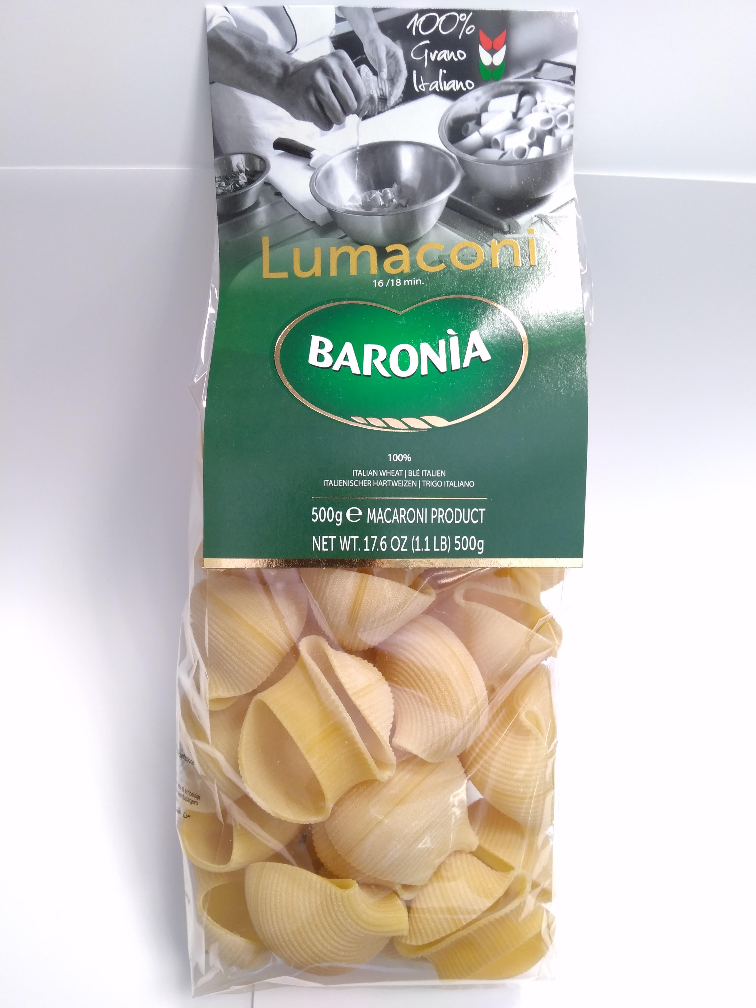 Макароны Baronia Lumaconi Гиганти, 500