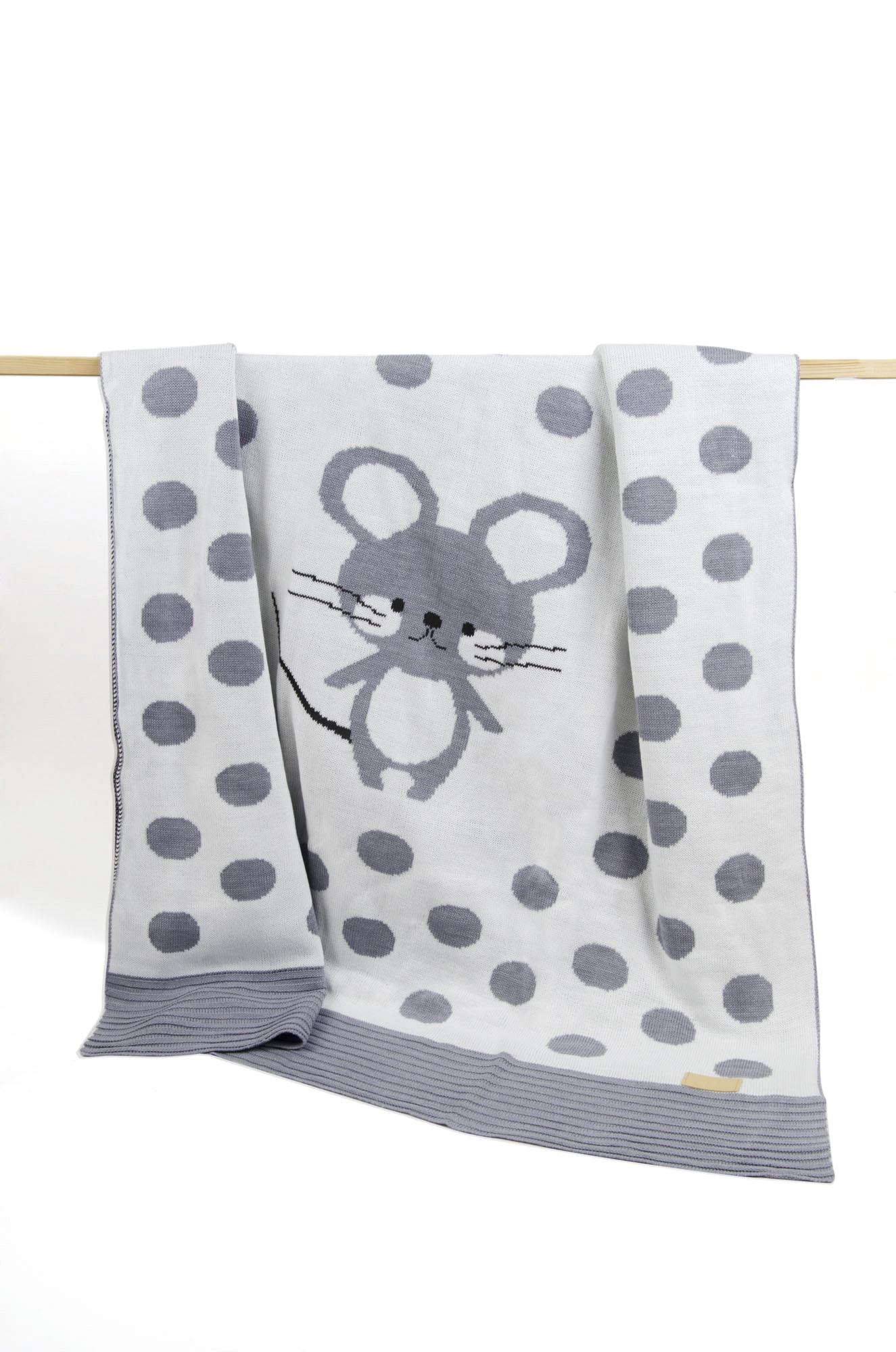 пледы Плед детский Ma Licorne Petite mickey gris (серый), 1х1 м