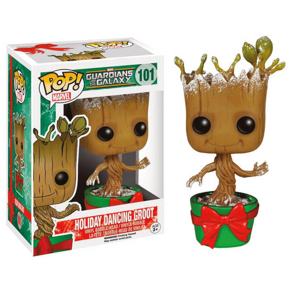 Фигурка Funko Pop Guardians of the Galaxy 2 - Holiday Dancing Groot (Праздничный Танцующий Грут) building blocks small tree man groot guardians of the galaxy marvel figures starwars super hero bricks kids diy toys hobbies