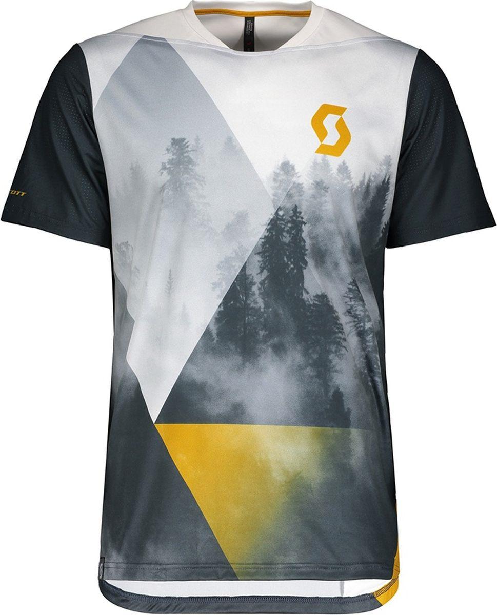 Веломайка мужская Scott Shirt M's Trail Flow Pro s/sl, 270477-6177, синий, размер M (46/48)