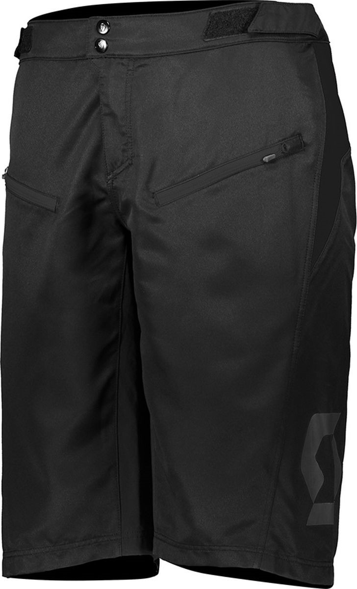 Велошорты мужские Scott Shorts M's Trail Vertic w/pad, 270483-0001, черный, размер L (50/52)