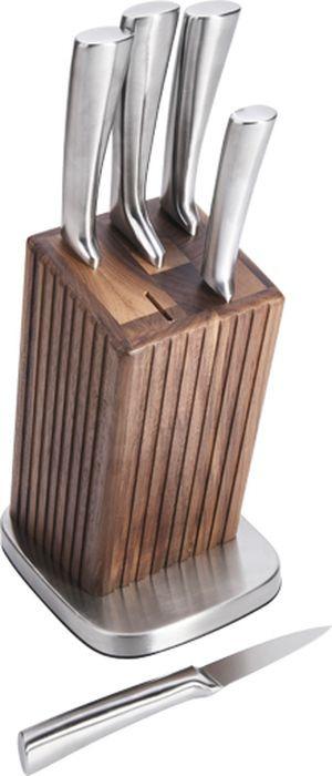 Набор кухонных ножей Taller Хартфорд, на подставке, TR-2077, серый металлик, 6 предметов шкаф на ножках verfine из орехового дерева