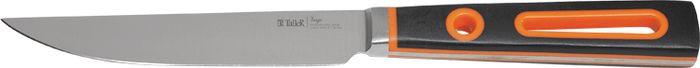 Нож универсальный Taller Вердж, TR-2068, черный, оранжевый, длина лезвия 12,5 см нож универсальный taller длина лезвия 13 см tr 2048