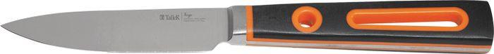 цена Нож для овощей Taller Вердж, TR-2069, черный, оранжевый, длина лезвия 9 см онлайн в 2017 году