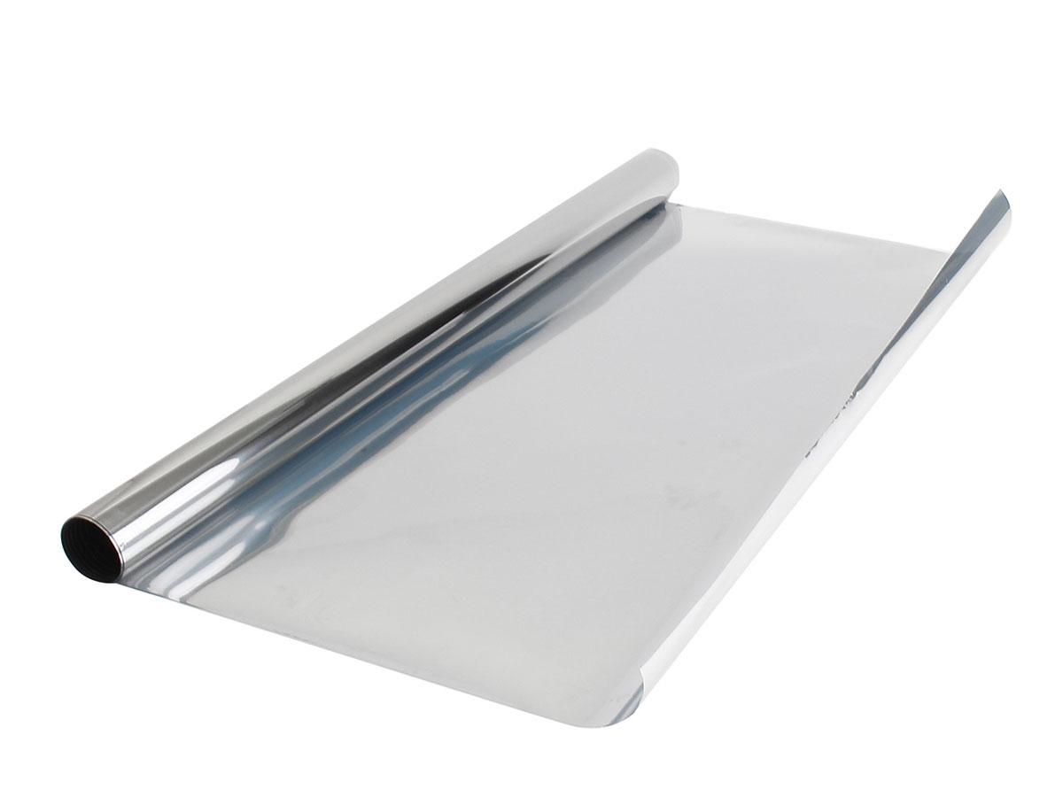 Пленка солнцезащитная для окон Migliore зеркальная, серый металлик
