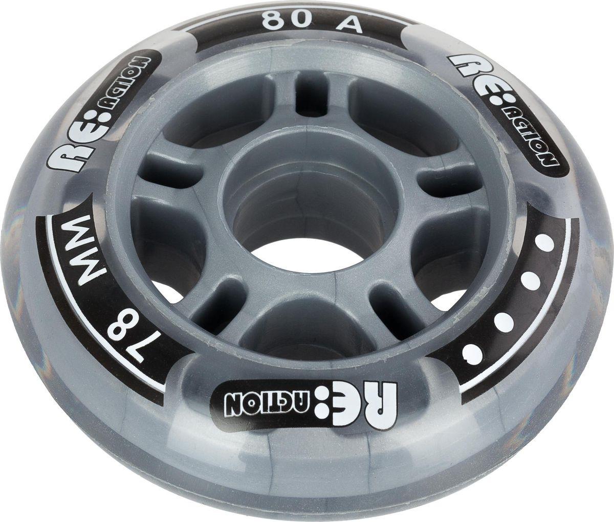 Набор колес Reaction 78/80 Wheel Set, RW78\80, прозрачный, 4 штRW78\80Набор колес Reaction. Размер 78 мм и жесткость 80А, идеально подходят для фитнес-катания.