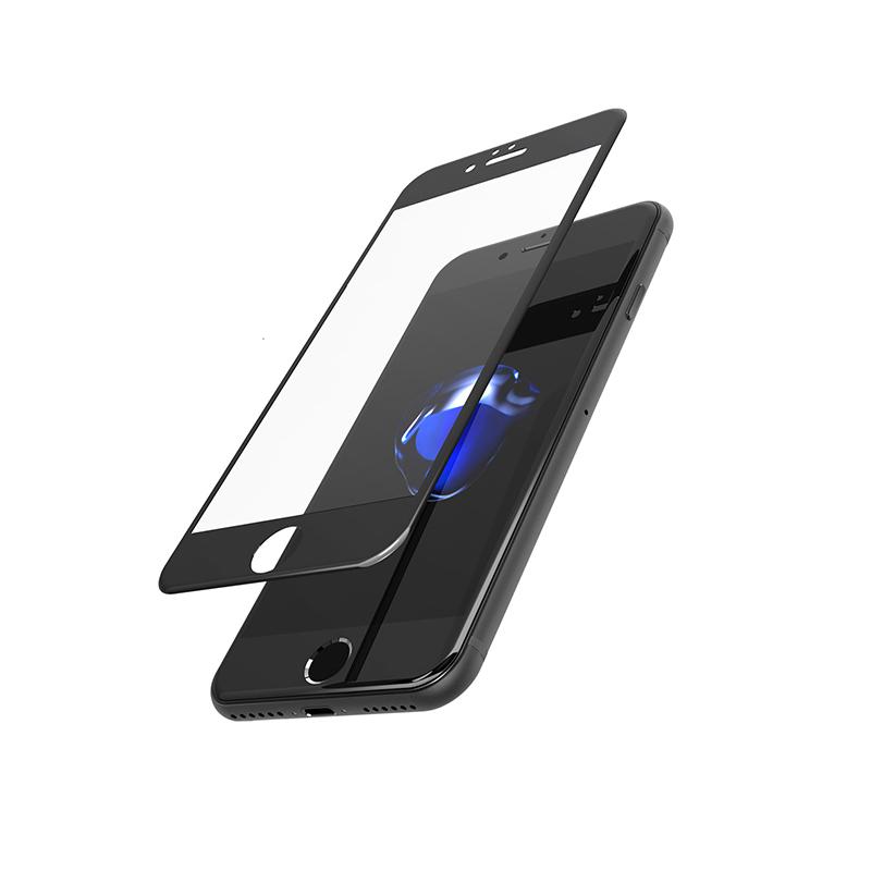 Защитное стекло Закаленное стекло 9Н для iPhone 8 / 8plus / 7 / 7plus / 6s / 6splus / 6 / 6plus, черный