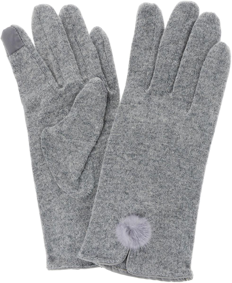 Перчатки Laura Milano eleganzza серые перчатки с отделкой