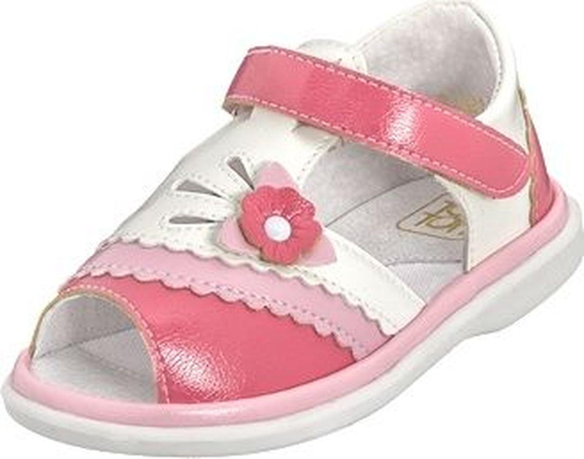 Сандалии для девочки Топ-Топ, цвет: белый, розовый. 31299/21210-2. Размер 2231299/21210-2