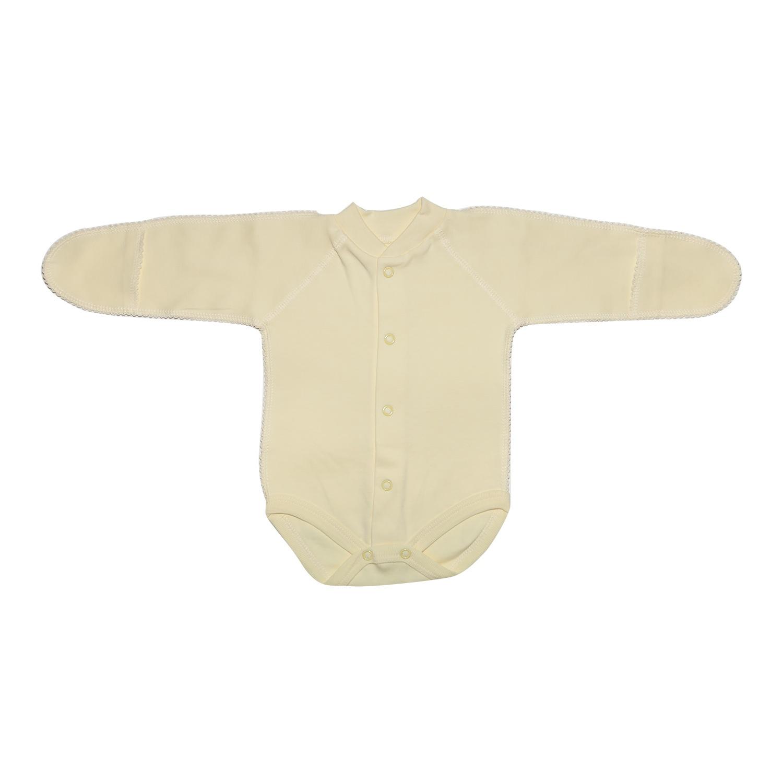Боди ТМ Клякса боди детское клякса груша цвет белый желтый 11г 325 размер 56