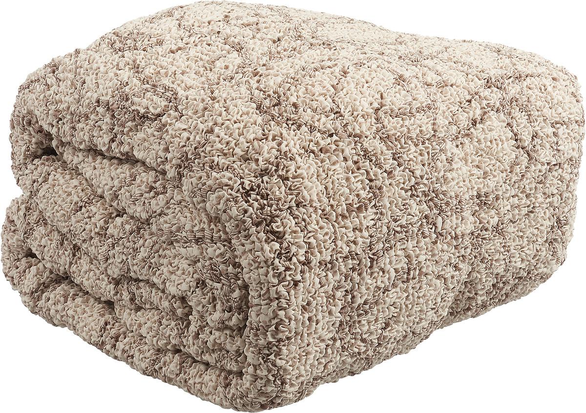 Чехол на классический угловой диван Еврочехол Виста Беата, 6/218-8, светло-бежевый, ширина 550 см цена