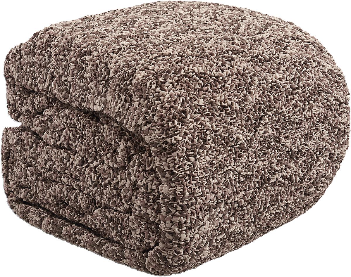 Чехол на классический угловой диван Еврочехол Виста Инфинито, 6/171-8, коричневый, ширина 550 см цена