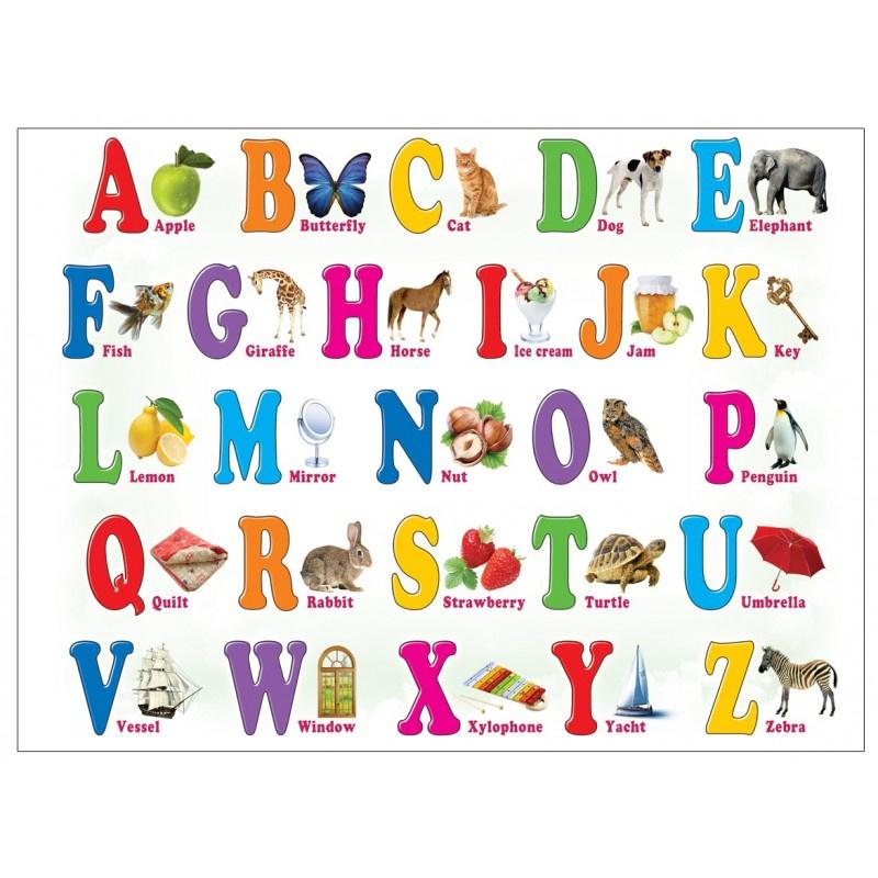 Английский алфавит 5-10 лет (магнит на холодильник) обучающий плакат для детей