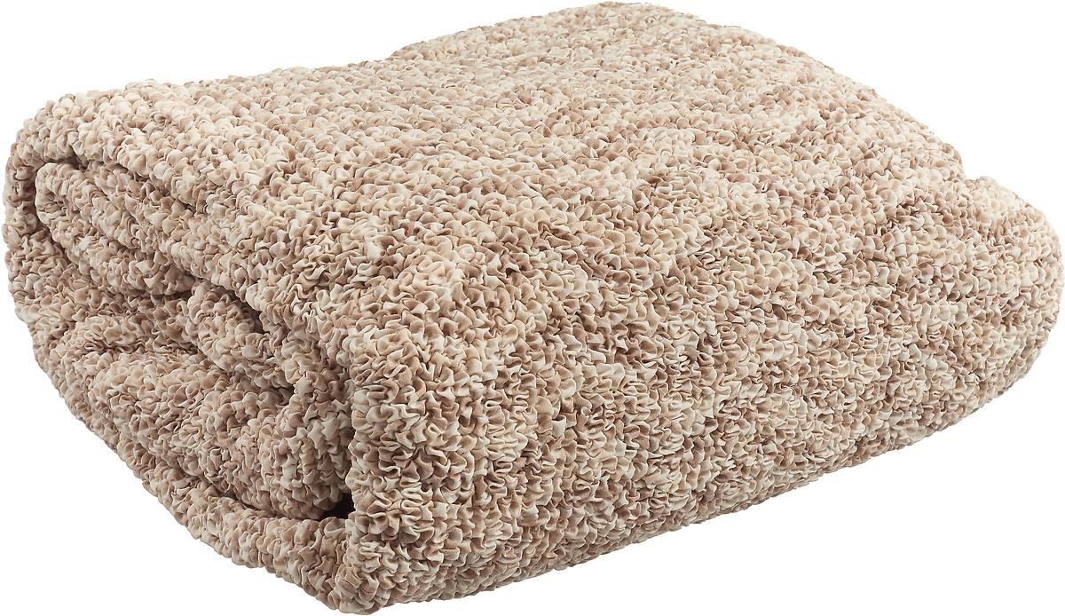 Чехол на угловой диван с выступом слева Еврочехол Виста Инфинито, 6/172-9, белый, бежевый, ширина 450 см цена