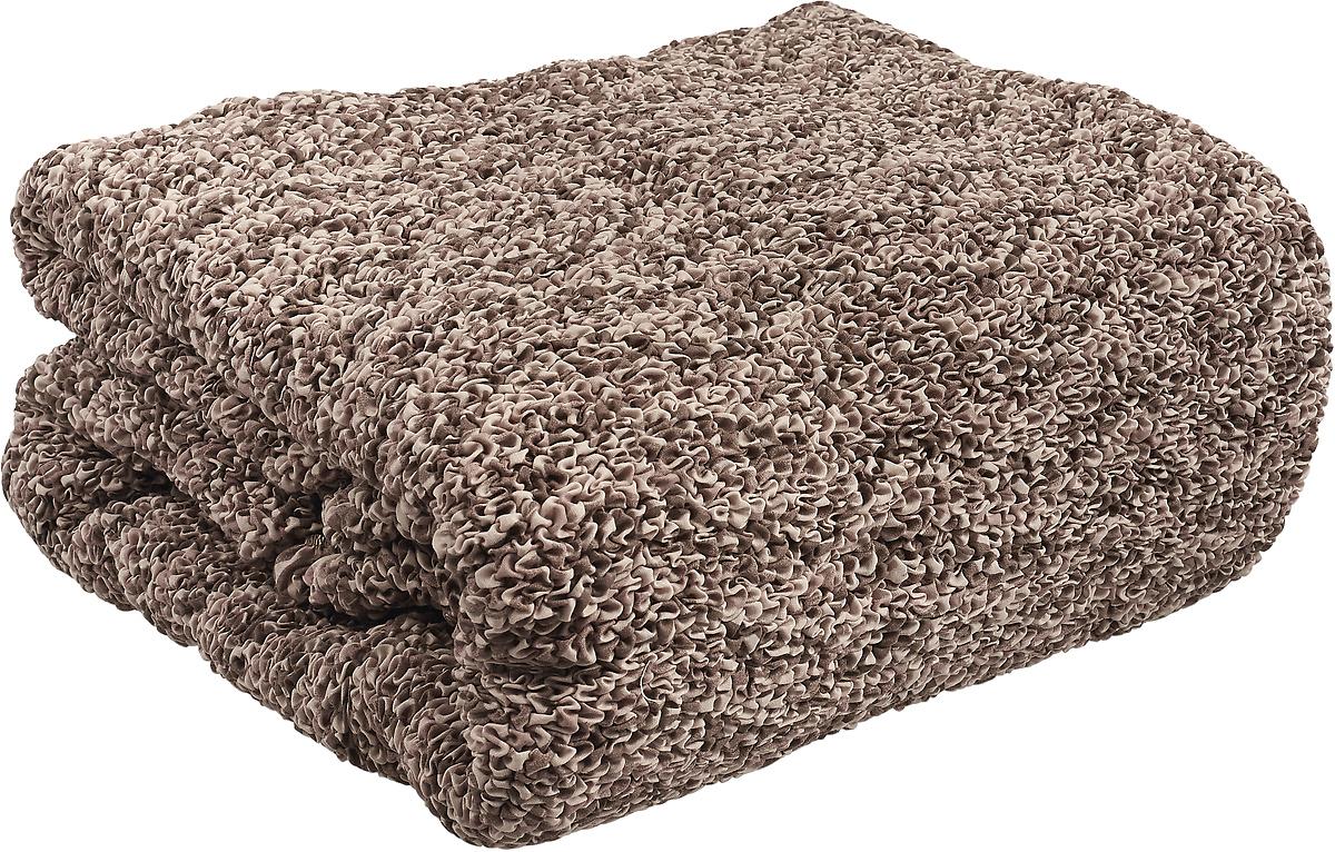 Чехол на угловой диван с выступом слева Еврочехол Виста Инфинито, 6/171-9, коричневый, ширина 450 см цена