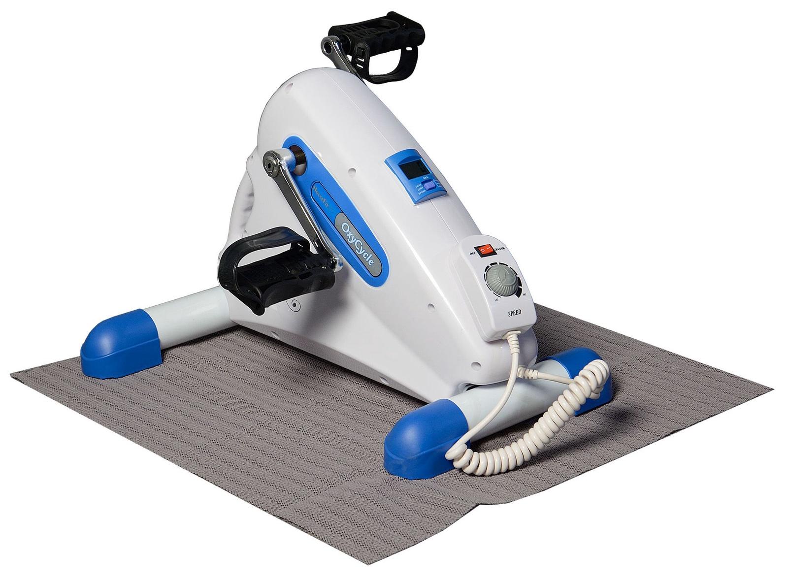 Велотренажер HouseFit HS-5028, белый, голубой housefit hs 5022