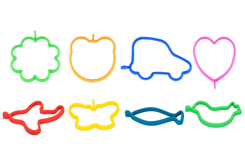Набор форм для яичницы и оладьев 8 штук, силикон