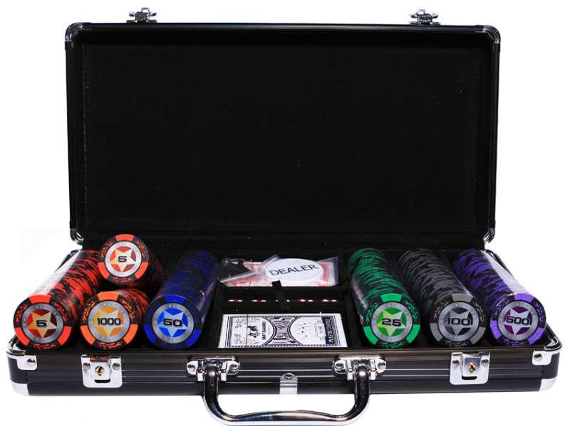 Набор для покера Partida Black Stars на 300 фишек набор для покера partida compas на 300 фишек
