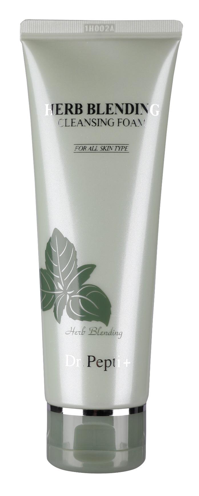 Пенка для умывания Dr. Pepti+ Очищающая   лица с лифтинг-эффектом, стимулирует выработку коллагена Herb Blending Cleansing Foam, 110 мл