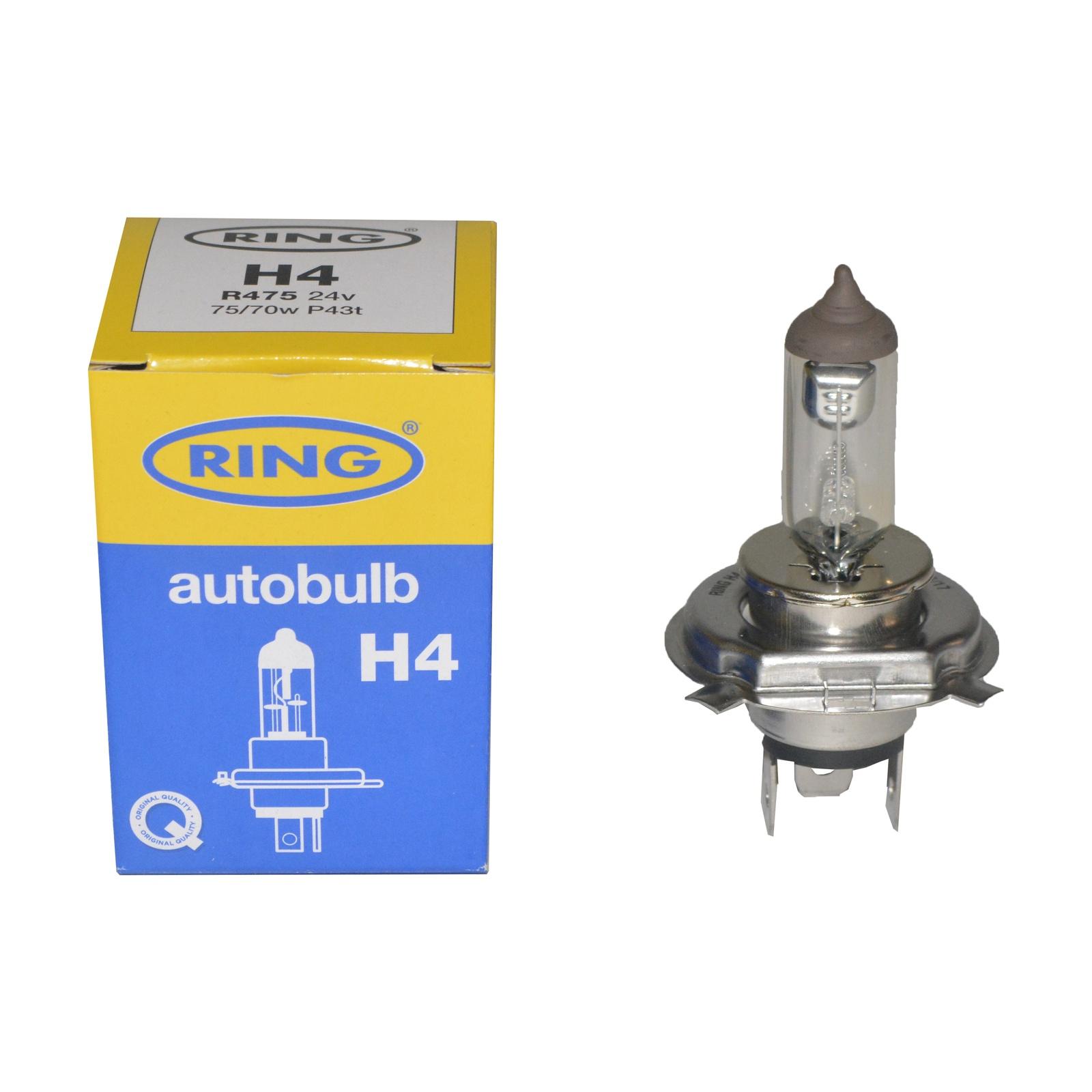 Лампа автомобильная RING H4 60/55W 24V
